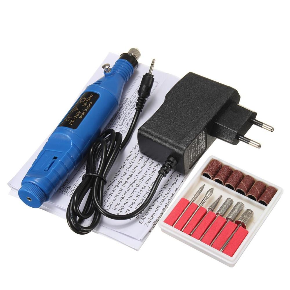 Electric Mini Grinder Nail Machine File Drill Pedicure Manicure Art ...