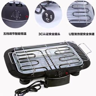 Electric Outdoor Barbecue Grill (Black)