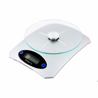 Empire Digital Glass Kitchen Weighing Scale LCD 5KG/1G