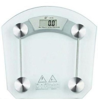 Empire Digital LCD Electronic Tempered Glass Bathroom Weighing Scale 8mm-(Square)