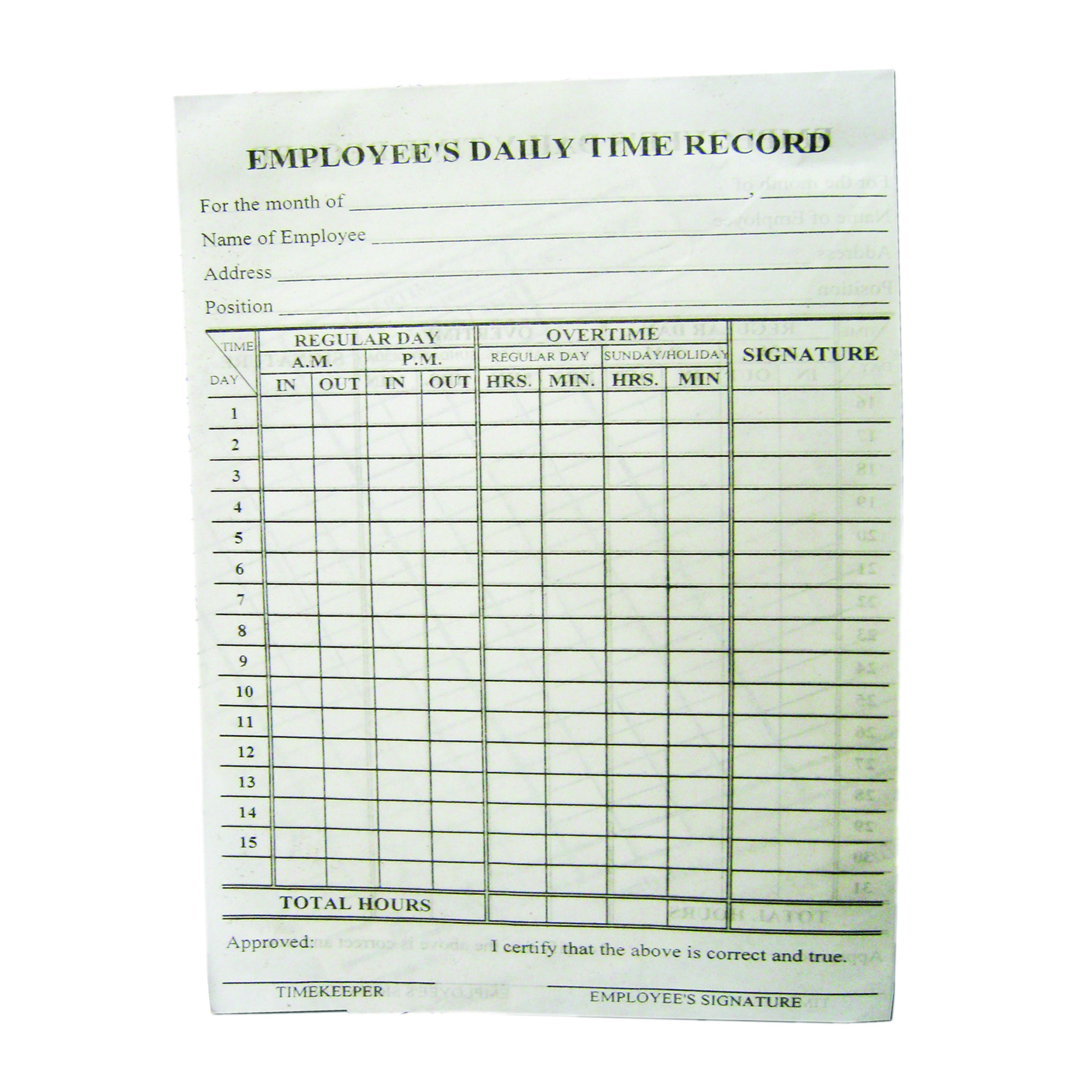Employees Daily Time Card Set of 100 | Lazada PH