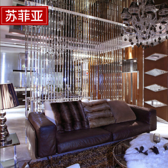 Entrance crystal decorative hanging half-curtain crystal bead curtain