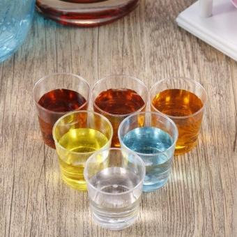 ERA 20pcs 28ml Mini Clear Reusable Plastic Disposable Cups TumblersDrink Short Cup - intl - 4