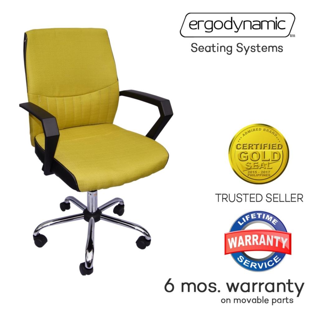 Erynamic Emc 122ylw Designer Mid Back Office Chair Fabric Desk