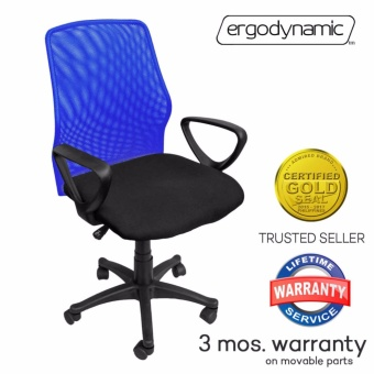 Ergodynamic EMC-124BLU Mesh Office Chair Furniture (Blue)