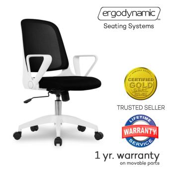 Ergodynamic EMC-16BLK Mid Back Mesh Conference Office Chair witharmrests (Black)