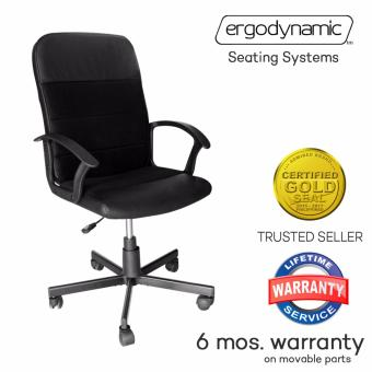 Ergodynamic MBC-P16 Mid Back Office Chair Furniture (Black)