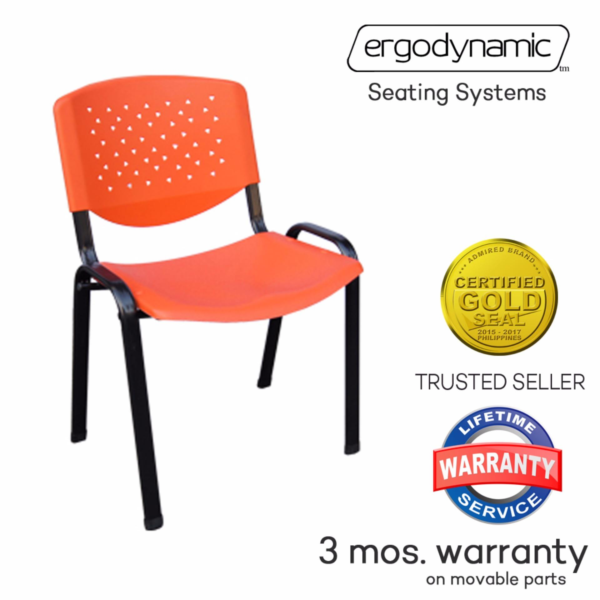 Ergodynamic VCP 205ORG Stackable Plastic Meeting Chairs (Orange)