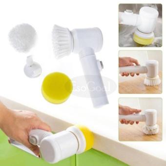 EsoGoal Power Scrubber Electric Cleaning Brush Battery Powered Cordless Spin Scrubber for Kithchen/Bathtub/Shower/Bidet (White) - intl - 4
