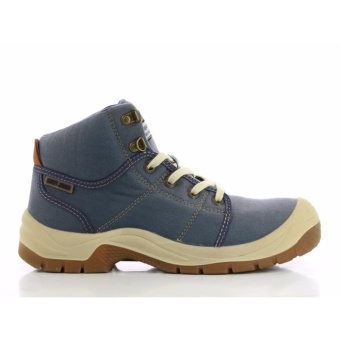 [EU SIZE 40] Safety Jogger Desert Steel Toe Cap and Steel Midsole Safety Shoes (Blue)