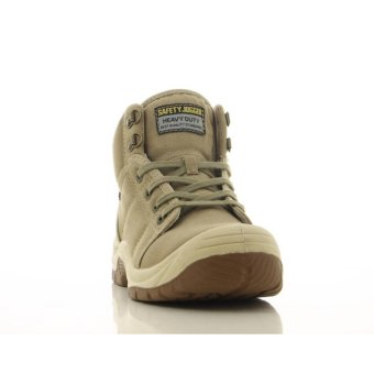 [EU SIZE 44] Safety Jogger Desert Steel Toe Cap and Steel Midsole Safety Shoes (Khaki) - 3