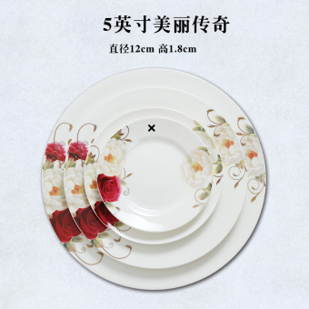 European bone china plate ceramic Flat Plate