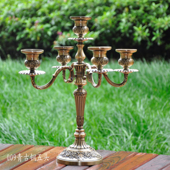 European candlelight dining table wedding Christmas candle table candle holder