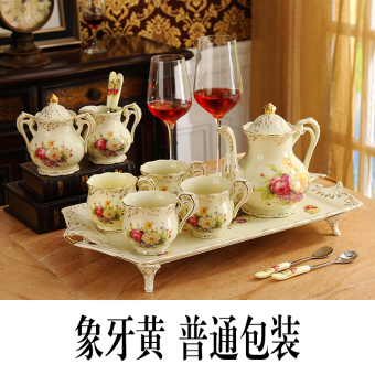European with tray ceramic tea set