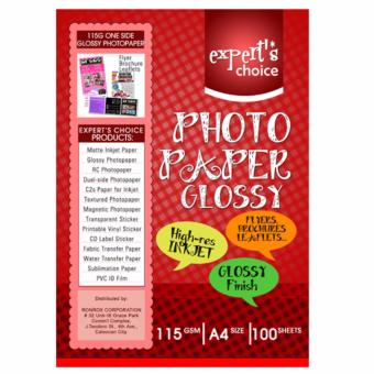 Expert's Choice 115g Glossy Photopaper A4 (100 Sheets)