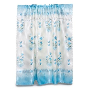 Fabric Concepts Ready Made Curtains for Home Windows Set (Blue)