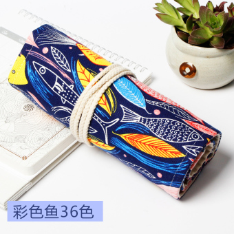 Fabric large capacity color of lead sketch volume-pencil case pen curtain