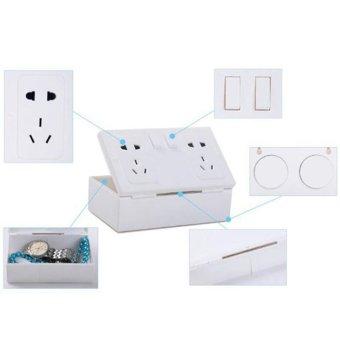 Fake Secret Wall Plug Socket Security Safe Money Jewel Box HidesValuables - intl - 3