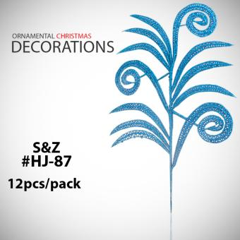 Fashion 12pcs. HJ-87 Glitter Christmas Tree Decorations Ornaments -Blue Price Philippines