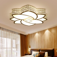Fashion Lotus Lamp Modern Crystal LED Ceiling Light 30W Three Color For Living Room Dining Bedroom Study Home Hotel Decorative Led H5046