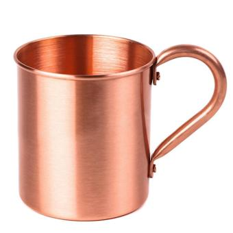 Fashion Pure Copper Cup 415ml Mug for Chilled Beer Iced Coffee TeaVodka Gin Rum Tequila Whiskey Mixed Drinks - intl