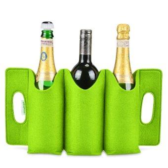 FelTiamo 3-Wine Bottle Holder (Lime) - picture 2