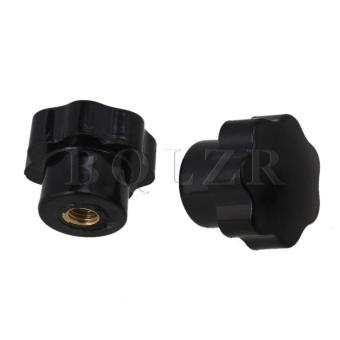 Female Thread Screw On Type Star Knob Set of 5 (Black) - picture 2