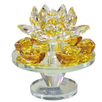 Feng Shui Rotating Lotus Plate with Gold Bar (Small) Price Philippines