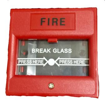 Fire Alarm Bell 6 Inches Diameter 220Volts with Break Glass MAnual Push Station - 2