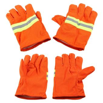 Fire Protective Gloves Fire Proof Heat Proof WaterproofFlame-retardant Non-slip Fire Fighting Anti-fire Gloves Tomnet -intl - 4