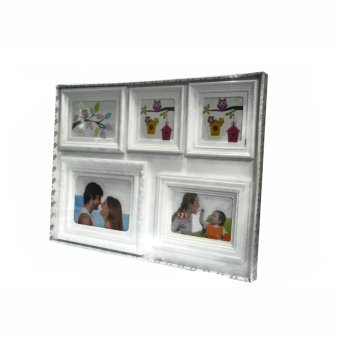 Five Frame Collage Picture Frame (White) - picture 3