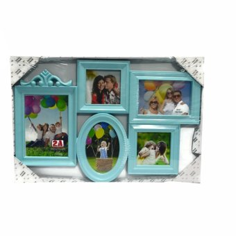 Five Frame With Oval Frame Design Collage Picture Frame (Blue) product preview, discount at cheapest price