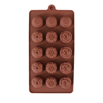Five With Four Different Flowers Chocolate Mould Cake Mold IceLattices - 4