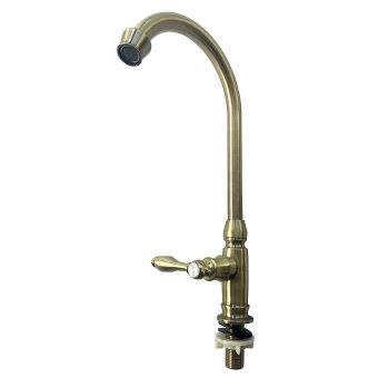 FLEXCO FC-7012 Retro Classic Kitchen Faucet (Gold) - 3