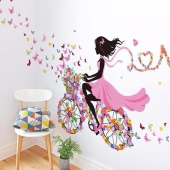 Flower & Girl Removable Wall Sticker Vinyl Decal DIY Room Home Mural Decor - 2