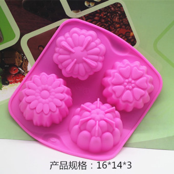Flower silicone cake pudding jelly HIGH-TEMPERATURE resistant easily removable Mold