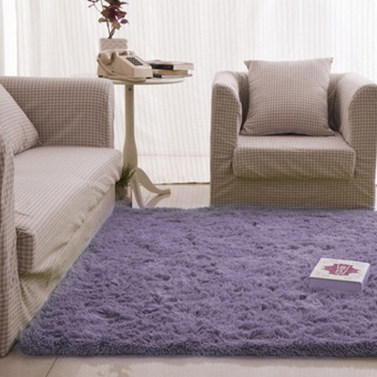 Fluffy Rugs Anti-Skid Shaggy Area Rug Dining Carpet Floor Mat graypurple