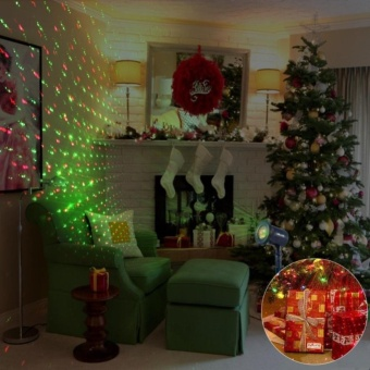 F.M.Z Outdoor and Indoor Christmas Decorative Laser Light with Redand Green Rotating Spot Star Projector with 10 Lighting Modes forChristmas, Holiday, Parties, Landscape, and Garden Creative - intl - 2