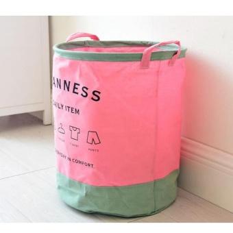 Foldable Linen Cotton Laundry Baskets Storage Basket Dirty BarrelWaterproof Clothes Basket Bra Necktie Socks Storage Box Bag BinsOrganizer 35X40cm - intl - 3