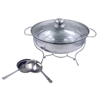 Food Warmer Chafing Dish w/ Fuel Holder for Catering (28cmDiameter)