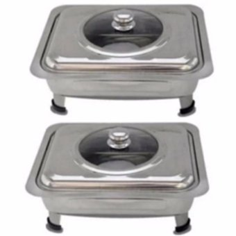 Food Warmer Rectangular Tray Stainless for Catering, Serving ,Events and Party Set of 2