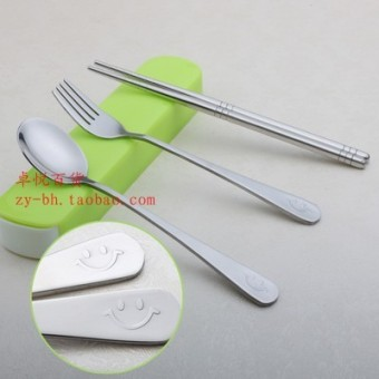 Fork travel student environmentally friendly portable cutlery box spoon