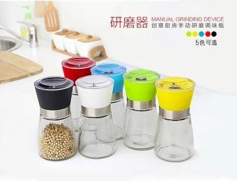 Free Shipping Salt and Pepper Mill Grinder Glass Pepper Grinder Shaker Spice Salt Container Condiment Jar Holder New Ceramic Grinding Bottles - intl - 3