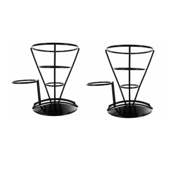 French Fry Stand Set of 2 (Black)