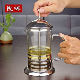 French press pot stainless steel glass filter cup PARK'S pot