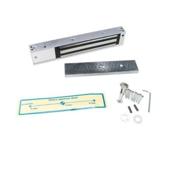 Full RFID Door Access Control System Kit Set (180kg 350LB ElectricMagnetic Lock + Armature Faceplate + Access Control Power Supply +Push Release Button + Proximity Door Entry keypad + 10 ID Keys) -intl - 5