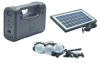 Gdlite Gd-8028 Rechargeable & Solar Lightining System #0123