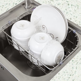 General kitchen sink storage sink rack drain dish rack