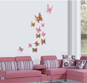 GETEK The butterfly 12 only a set of wall stickers (White) - picture 2