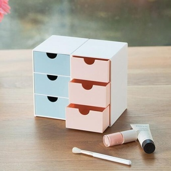 Girlhood drawer type storage box-Pink - intl - 2
